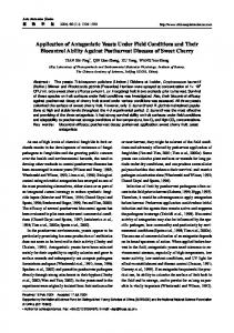 Application of Antagonistic Yeasts Under Field Conditions and ... - JIPB