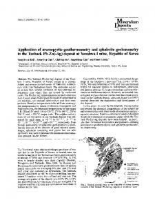 Application of arsenopyrite geothermometry and sphalerite ...