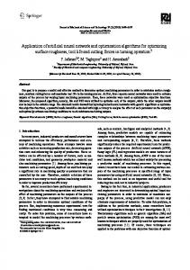 Application of artificial neural network and optimization algorithms for ...