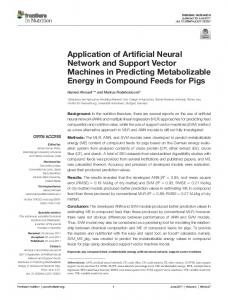 application of artificial neural network and support Vector Machines in ...