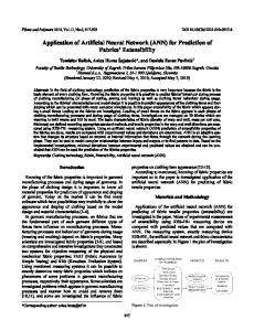 Application of artificial neural network (ANN) for prediction of fabrics ...