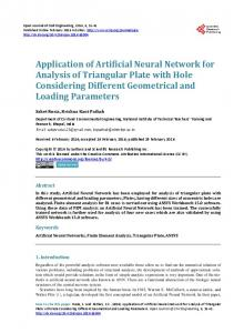 Application of Artificial Neural Network for Analysis of Triangular Plate ...