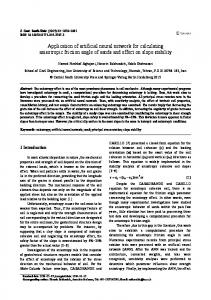 Application of artificial neural network for calculating ... - Springer Link