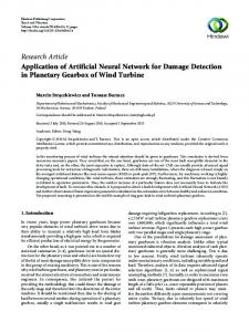 Application of Artificial Neural Network for Damage Detection in ...