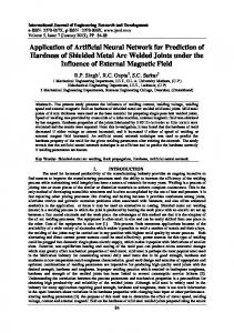 Application of Artificial Neural Network for Prediction of Hardness of ...