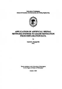 application of artificial neural network systems to grade ... - CiteSeerX