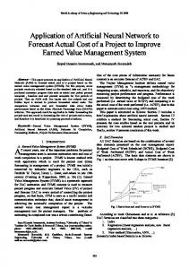 Application of Artificial Neural Network to Forecast Actual ... - CiteSeerX