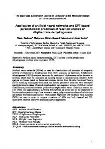 Application of artificial neural networks and DFT