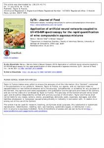Application of artificial neural networks coupled to UV