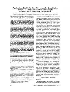 Application of Artificial Neural Networks for Quantitative Analysis of ...