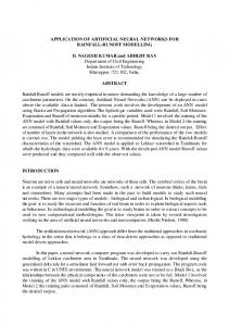 APPLICATION OF ARTIFICIAL NEURAL NETWORKS FOR RAINFALL ...