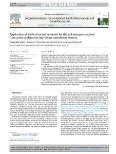 Application of artificial neural networks for the soil ... - Semantic Scholar