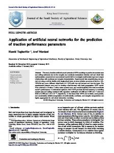Application of artificial neural networks for the ...