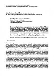 Application of artificial neural networks in the damage identification of