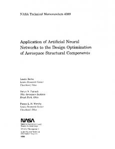 Application of Artificial Neural Networks to the Design Optimization of ...