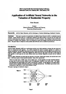 Application of Artificial Neural Networks to the Valuation - CiteSeerX