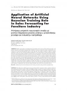 Application of Artificial Neural Networks Using Bayesian Training Rule ...