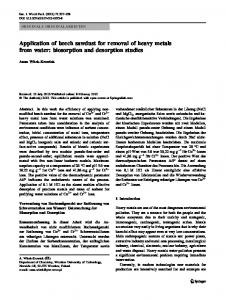 Application of beech sawdust for removal of heavy ... - Springer Link