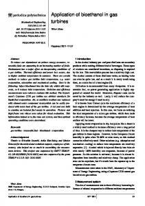 Application of bioethanol in gas turbines - Periodica Polytechnica - BME