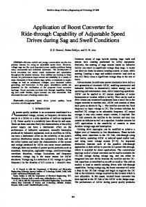 Application of Boost Converter for Ride-through Capability ... - CiteSeerX