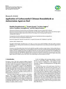 Application of Carboxymethyl Chitosan-Benzaldehyde as ...