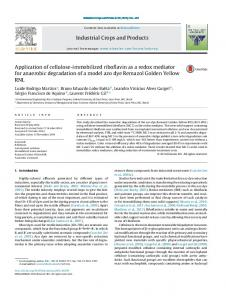 Application of cellulose-immobilized riboflavin as a redox mediator for ...