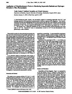 Application of Chemiluminescent Probe to Monitoring Superoxide ...