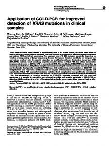 Application of COLD-PCR for improved detection of KRAS ... - Nature