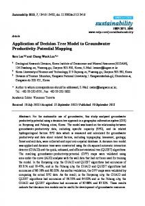 Application of Decision-Tree Model to Groundwater ... - MDPI