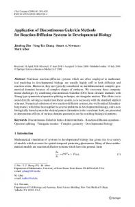 Application of Discontinuous Galerkin Methods for ... - CiteSeerX