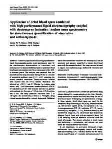 Application of dried blood spots combined with high-performance ...