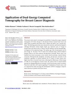 Application of Dual-Energy Computed Tomography for Breast Cancer ...