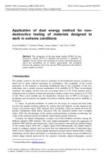 Application of dual energy method for non-destructive testing of ...