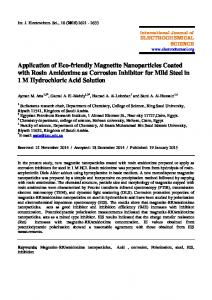 Application of Eco-friendly Magnetite Nanoparticles Coated with Rosin