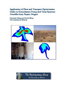 Application of Flow and Transport Optimization Codes to Groundwater ...