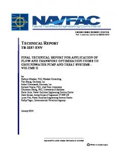 application of flow and transport optimization codes to