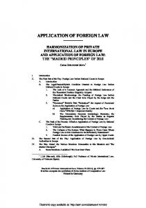 application of foreign law - SSRN papers