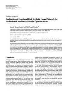 Application of Functional Link Artificial Neural Network for Prediction of ...