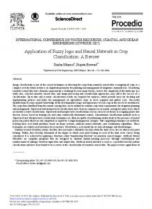 Application of Fuzzy Logic and Neural Network in Crop Classification ...