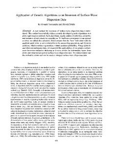 Application of Genetic Algorithms to an Inversion of ... - Semantic Scholar