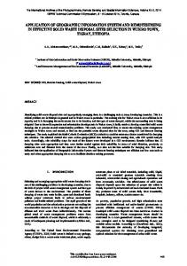 application of geographic information system and remotesensing in ...