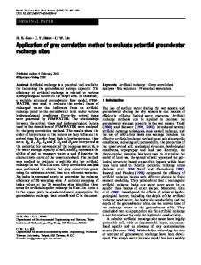 Application of grey correlation method to evaluate potential ...