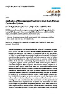 Application of Heterogeneous Catalysis in Small