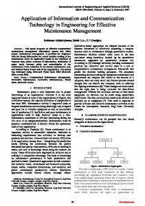 Application of Information and Communication Technology in