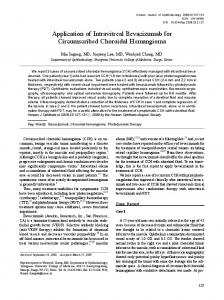 Application of Intravitreal Bevacizumab for Circumscribed ... - CiteSeerX