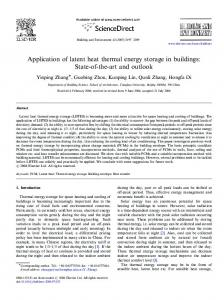 Application of latent heat thermal energy storage in ... - Semantic Scholar