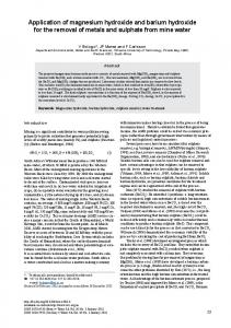 Application of magnesium hydroxide and barium hydroxide for the ...