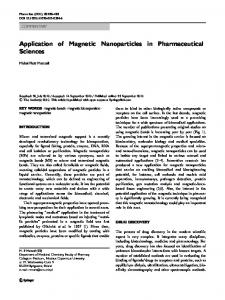 Application of Magnetic Nanoparticles in ... - BioMedSearch