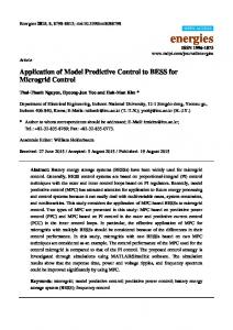 Application of Model Predictive Control to BESS for Microgrid ... - MDPI