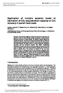 Application of multiple sorption model to ... - E3S Web of Conferences